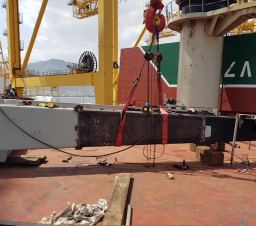 IHI H30T 26MR boom reinstallation